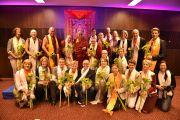 Его Святейшество Далай-лама и члены Тибетского центра. Гамбург, Германия. 24 августа 2014 г. Фото: Мануэль Бауэр.