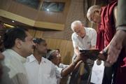 Энэтхэгийн Амьдрах Орчны төв дэх айлчлал. Энэтхэг, Шинэ Дели. 2014.09.22