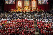 Вид на зал, где на учения Его Святейшества Далай-ламы собралось более пяти тысяч человек. Ванкувер, Канада. 23 октября 2014 г. Фото: Пола Уоллис