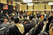 Его Святейшество Далай-лама на встрече с членами тибетской общины. 26 октября 2014 г. США, Бирмингем, штат Алабама. Фото: Сонам Зоксанг