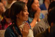На встрече Его Святейшества Далай-ламы с членами тибетской общины. 26 октября 2014 г. США, Бирмингем, штат Алабама. Фото: Сонам Зоксанг