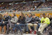 """Во время лекции Его Святейшества Далай-ламы """"Развитие сердца"""" в Принстонском университете. 28 октября 2014 г. Нью-Джерси, США. Фото: Denise Applewhite"""