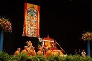 Его Святейшество Далай-лама дарует буддийские учения в бостонском центре изобразительных искусств. 30 октября 2014 г. Бостон, штат Массачусетс, США. Фото: Джереми Рассел (офис ЕСДЛ)