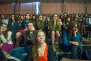 Слушатели в зале во время обсуждения между Его Святейшеством Далай-ламой и студентами Массачесетского технологического института в рамках программы SPARK 2014. Кембридж, штат Массачусетс, США. 31 октября 2014 г. Фото: Brian Lima