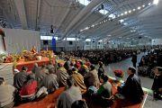 На встрече Его Святейшества Далай-ламы с тибетцами, живущими в США. Нью-Йорк, США. 5 ноября 2014 г. Фото: Сонам Зоксанг