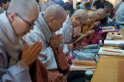 Корейские монахини читают молитвы в начале второго дня трехдневных учений Его Святейшества Далай-ламы. Дхарамсала, Индия. 12 ноября 2014 г. Фото: Тензин Чойджор (офис ЕСДЛ)