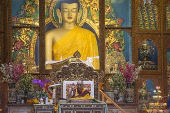 Далай-лама принял участие в конференции в тантрическом университете Гьюто