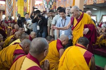 В монастыре Ганден Джангце возобновились учения Далай-ламы по ламриму, начатые в 2012 году