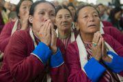 Жители штата Аруначал-Прадеш на церемонии, посвященной 55-летию со дня первых учений, дарованных Далай-ламой в изгнании в Таванге. Мундгод, Индия. 26 декабря 2014 г. Фото: Тензин Чойджор (офис ЕСДЛ)