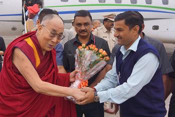 Далай-лама посетил Насик в штате Махараштра