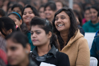 Далай-лама прочел лекцию о сострадании в университетском колледже «Калинди» в Дели