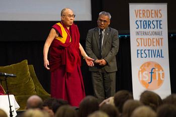 Далай-лама стал гостем студенческого фестиваля в Тронхейме