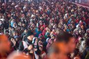 Слушатели во время учений Его Святейшества Далай-ламы в Молодежном буддийском обществе. Санкиса, штат Уттар-Прадеш, Индия. 31 января 2015 г. Фото: Тензин Чойджор (офис ЕСДЛ)