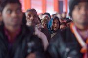Некоторые из более 20 тысяч участников учений Его Святейшества Далай-ламы в Молодежном буддийском обществе. Санкиса, штат Уттар-Прадеш, Индия. 1 февраля 2015 г. Фото: Тензин Чойджор (офис ЕСДЛ)