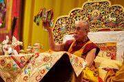 Его Святейшество Далай-лама дарует посвящение Авалокитешвары. Базель, Швейцария. 8 февраля 2015 г. Фото: Оливье Адам.