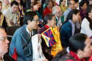 На встрече Его Святейшества Далай-ламы с тибетцами, живущими в Дании и соседних странах. Копенгаген, Дания. 10 февраля 2015 г. Фото: Джереми Рассел (офис ЕСДЛ).