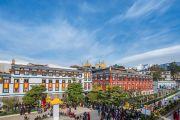 Монастырь Палпунг Шераблинг в ожидании Его Святейшества Далай-ламы. Верхний Бхатту, штат Химачал-Прадеш, Индия. 11 марта 2015 г. Фото: Тензин Чойджор (офис ЕСДЛ)