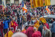 Его Святейшество Далай-лама прибыл в институт Лунгрик Джампеллинг в монастыре Палпунг Шераблинг. Верхний Бхатту, штат Химачал-Прадеш, Индия. 12 марта 2015 г. Фото: Тензин Чойджор (офис ЕСДЛ)