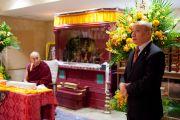 Представитель Его Святейшества Далай-ламы г-н Лунгток произносит речь во время посещения Далай-ламой нового тибетского офиса в Токио. Токио, Япония. 5 апреля 2015 г. Фото: Тензин Джигме