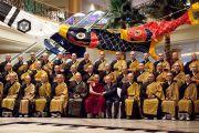 Его Святейшество Далай-лама и монахи традиции сото-дзэн. Гифу, Япония. 7 апреля 2015 г. Фото: Тензин Джигме