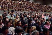 Главный зал конференц-центра Нагаракава вместил более 1600 человек, и еще около 400 человек смотрели лекцию Его Святейшества Далай-ламы по видеотрансляции. Гифу, Япония. 8 апреля 2015 г. Фото: Тензин Джигме
