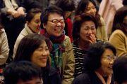 Во время лекции Его Святейшества Далай-ламы в храме Соудзи. Токио, Япония. 11 апреля 2015 г. Фото: Тензин Джигме