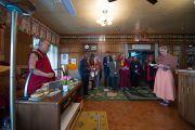 Его Святейшество Далай-лама участвует в литургии, которую отслужил архиепископ Десмонд Туту в его резиденции. Дхарамсала, Индия. 18 апреля 2015 г. Фото: Тензин Чойджор (офис ЕСДЛ)