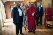Его Святейшество Далай-лама и Десмонд Туту в резиденции Далай-ламы в Дхарамсале, Индия. 18 апреля 2015 г. Фото: Тензин Чойджор (офис ЕСДЛ)