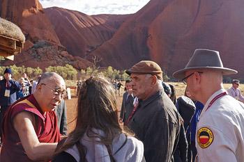 Его Святейшество Далай-лама посетил Улуру