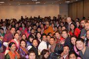 Его Святейшество Далай-лама на встрече с тибетцами, бутанцами и монголами, живущими в Брисбене. Брисбен, Квинсленд, Австралия. 11 июня 2015 г. Фото: Расти Стюарт