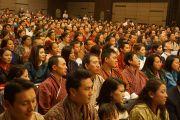 На встречу Его Святейшества Далай-ламы с бутанцами, живущими в Перте, собрались около 700 человек. Перт, Австралия. 15 июня 2015 г. Фото: Джереми Рассел (офис ЕСДЛ)