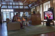 Его Святейшество Далай-лама при помощи видео-моста участвует в праздновании своего 80-летия на Тайване.  Дхарамсала, Индия. 21 июня 2015 г. Фото: Тензин Чойджор (офис ЕСДЛ)