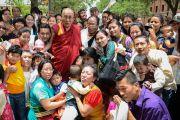 Его Святейшество Далай-лама и члены тибетского сообщества, приехавшие, чтобы встретиться с ним в Далласе. Штат Техас, США. 1 июля 2015 г. Фото: Центр Буша