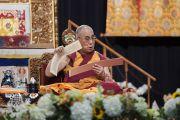 Его Святейшество Далай-лама дарует учения в Явиц-центре. Нью-Йорк, США. 9 июля 2015 г. Фото: Тензин Чойджор (офис ЕСДЛ)