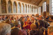 Его Святейшество Далай-лама отвечает на вопросы журналистов в городской ратуше. Франкфурт, Германия. 13 июля 2015 г. Фото: Мануэль Бауэр