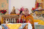 Выступление Его Святейшества Далай-ламы на торжественном открытии летней сессии Высшего буддийского совета. Ле, Ладак, штат Джамму и Кашмир, Индия. 29 июля 2015 г. Фото: Тензин Чойджор (офис ЕСДЛ)