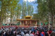 Вид на площадку проведения летней сессии Высшего буддийского совета. Ле, Ладак, штат Джамму и Кашмир, Индия. 29 июля 2015 г. Фото: Тензин Чойджор (офис ЕСДЛ)