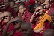 Во время выступления Его Святейшества Далай-ламы на торжественном открытии летней сессии Высшего буддийского совета. Ле, Ладак, штат Джамму и Кашмир, Индия. 29 июля 2015 г. Фото: Тензин Чойджор (офис ЕСДЛ)