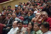 Во время выступления Его Святейшества Далай-ламы перед членами и гостями Ладакского горного совета по развитию. Ле, Ладак, штат Джамму и Кашмир, Индия. 29 июля 2015 г. Фото: Тензин Чойджор (офис ЕСДЛ)