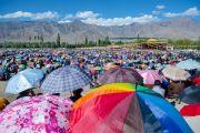 На учения Его Святейшества Далай-ламы собрались более 50 тысяч человек. Ле, Ладак, штат Джамму и Кашмир, Индия. 30 июля 2015 г. Фото: Тензин Чойджор (офис ЕСДЛ)