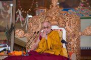 Его Святейшество Далай-лама дарует учения. Ле, Ладак, штат Джамму и Кашмир, Индия. 30 июля 2015 г. Фото: Тензин Чойджор (офис ЕСДЛ)
