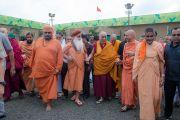 Его Святейшество Далай-лама в Каршни-ашраме. Тримбакешвар, штат Махараштра, Индия. 31 августа 2015 г. Фото: Тензин Чойджор (Офис ЕСДЛ)
