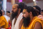 На праздновании дня рождения Шри-Рамеш-Бхай-Оджи в Каршни-ашраме. Тримбакешвар, штат Махараштра, Индия. 31 августа 2015 г. Фото: Тензин Чойджор (Офис ЕСДЛ)