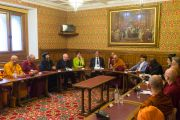Его Святейшество Далай-лама выступает на межрелигиозной встрече в Палате лордов. Лондон, Великобритания. 21 сентября 2015 г. Фото: Иан Камминг