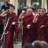В Дхарамсале монахини провели показательный философский диспут для Далай-ламы в рамках собрания Джанг Гончо