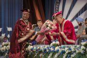 Торжественное открытие пятой церемонии вручения дипломов в Профессиональном университете Лавли. Пхагвара, штат Пенджаб, Индия. 14 ноября 2015 г. Фото: Тензин Чойджор (офис ЕСДЛ)