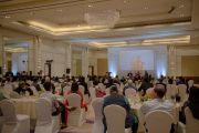 """Вид на зал, в котором проходило четвертое заседание """"Индийской благотворительной инициативы"""" с участием Его Святейшества Далай-ламы. Бангалор, Индия. 5 декабря 2015 г. Фото: Тензин Чойджор (офис ЕСДЛ)"""