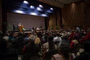 Его Святейшество Далай-лама выступает с лекцией в Национальном институте передовых исследований. Бангалор, Индия. 6 декабря 2015 г. Фото: Тензин Чойджор (офис ЕСДЛ)