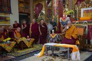 Его Святейшество Далай-лама в монастыре Гаден Лачи. Мундгод, Индия. 8 декабря 2015 г. Фото: Тензин Чойджор (офис ЕСДЛ)