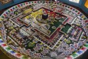 Песочная мандала Гухьясамаджи, возведенная для учений Его Святейшества Далай-ламы в тантрическом монастыре Гьюдмед. Хунсур, штат Карнатака, Индия. 11 декабря 2015 г. Фото: Тензин Чойджор (офис ЕСДЛ)